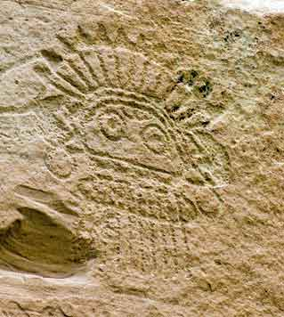 hopi indian rock carving